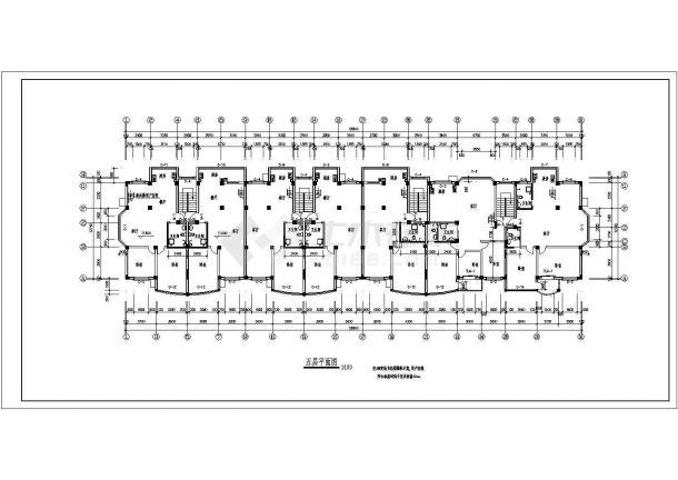 某地多层完美住宅楼建筑施工图纸-图二