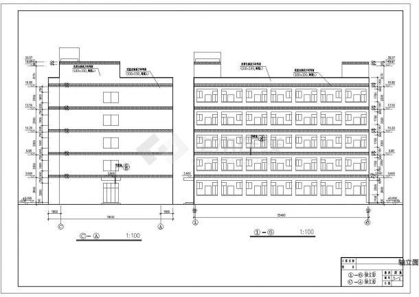 某地多层学生宿舍楼建筑施工图纸-图二