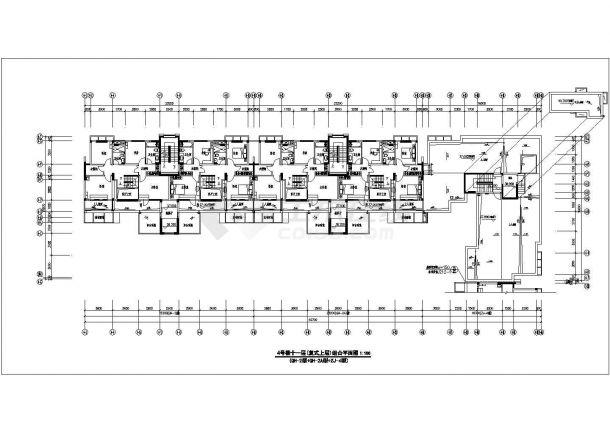某地万科住宅楼建筑施工图纸-图一