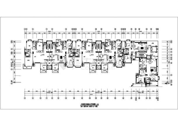 某地万科住宅楼建筑施工图纸-图二