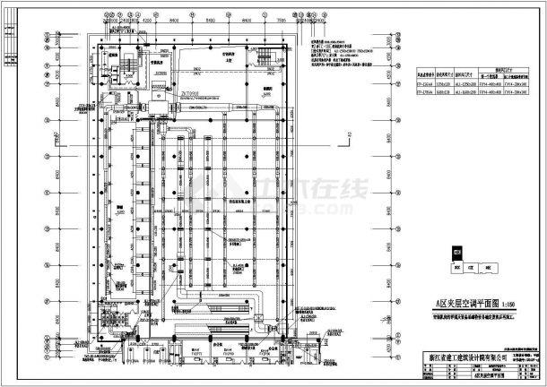 温岭市客运中心暖通全套施工设计cad图纸(含设计说明)-图一