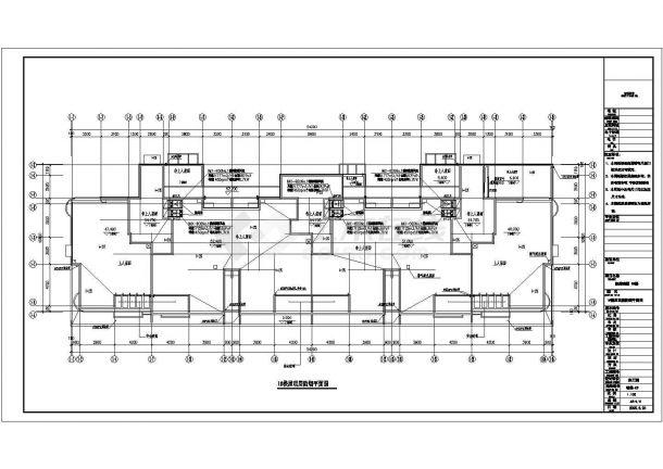 多层商住楼及车库采暖通风全套施工设计cad图纸-图一