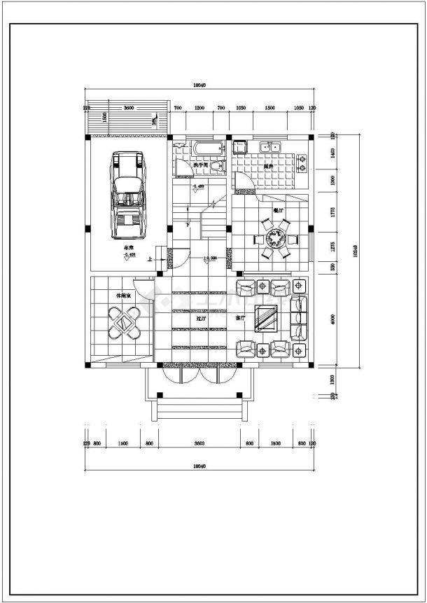 某地大型乡村高级别墅装饰设计图纸-图二