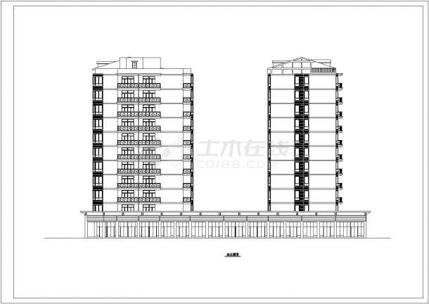 某地高级高层住宅楼建筑施工图纸-图二