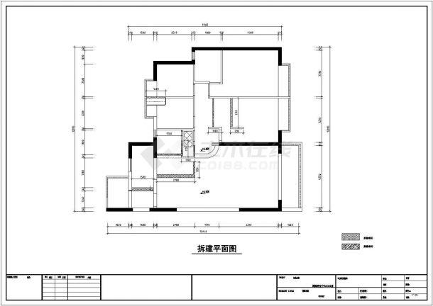 简约欧式风格多层别墅施工全套设计cad图-图一