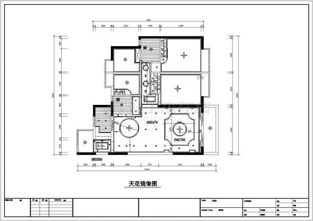 简约欧式风格多层别墅施工全套设计cad图-图二