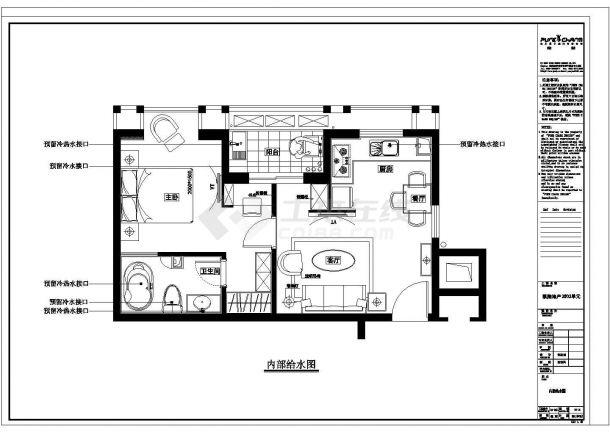 凯隆地产现代风格样板房全套建筑施工设计cad图纸(含效果图)-图一
