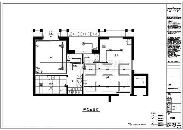 凯隆地产现代风格样板房全套建筑施工设计cad图纸(含效果图)-图二