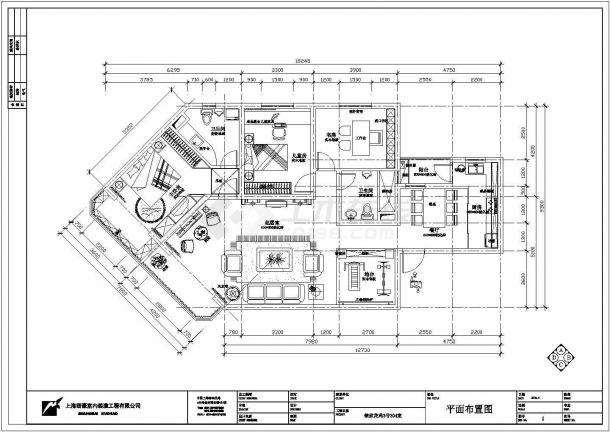 某地欧式家装样板房施工全套设计cad图-图二