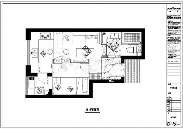 好旺星天地精品别墅楼全套施工设计cad图纸(含效果图)-图一