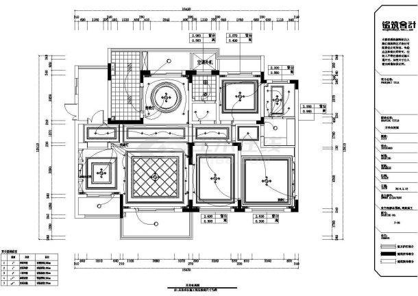 某滨湖假日金榈园全套施工设计cad图纸(含效果图)-图一