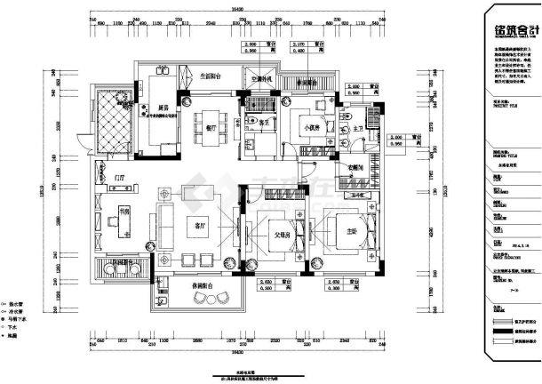 某滨湖假日金榈园全套施工设计cad图纸(含效果图)-图二