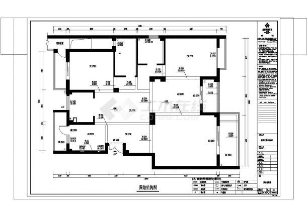 丽景天城小区样板房全套施工设计cad图纸(含效果图)-图一