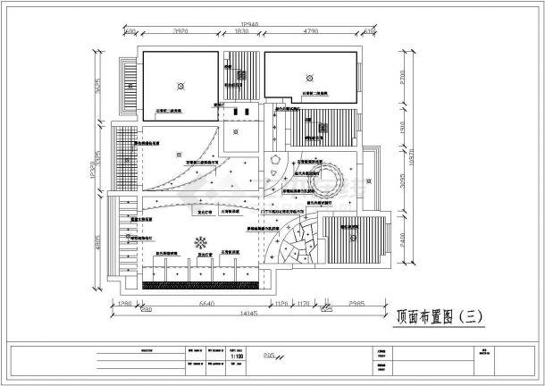 时尚简约风格样板房施工全套设计cad图-图二