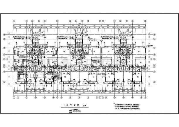 某地简约高层住宅楼建筑施工cad图纸-图一