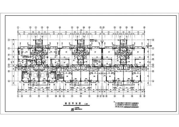 某地简约高层住宅楼建筑施工cad图纸-图二