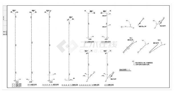 江苏某十六层住宅给排水消防施工CAD图纸-图一