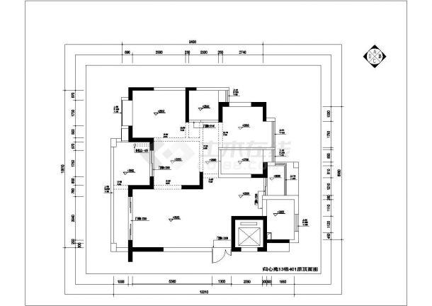 归心苑家装设计完整施工全套设计cad图(含效果图)-图一