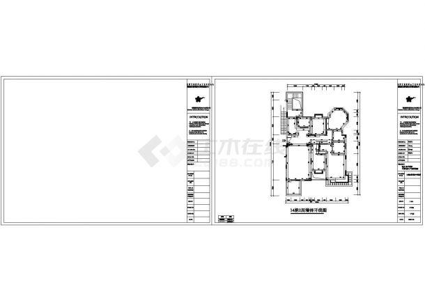 某地精品田园风格住宅楼全套施工设计cad图-图二