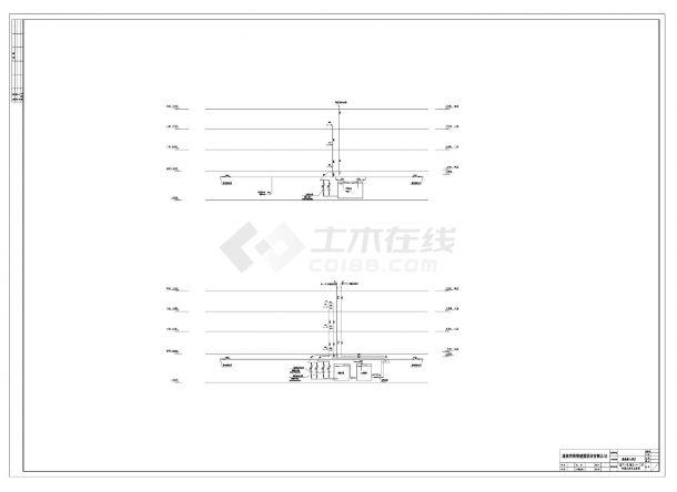 广东某二十二层酒店给排水设计CAD图纸-图一