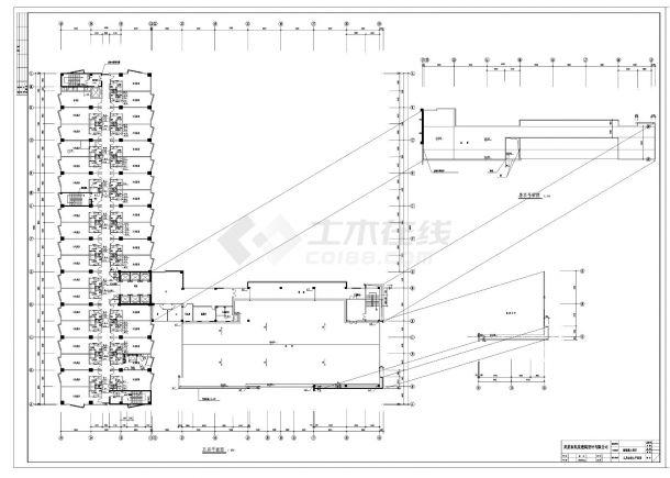 广东某二十二层酒店给排水设计CAD图纸-图二