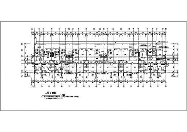 某地大型扬子名苑16号楼建筑施工图纸-图二