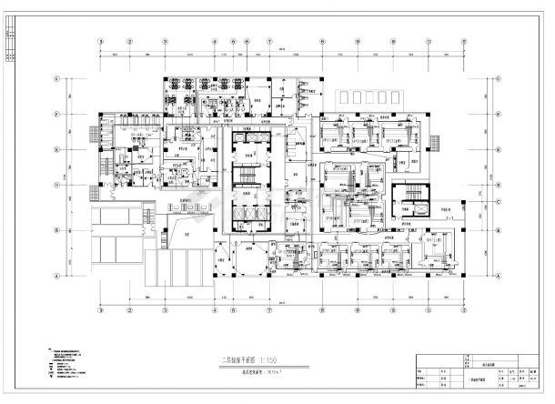 某医院综合病房楼电气照明施工CAD图纸-图一