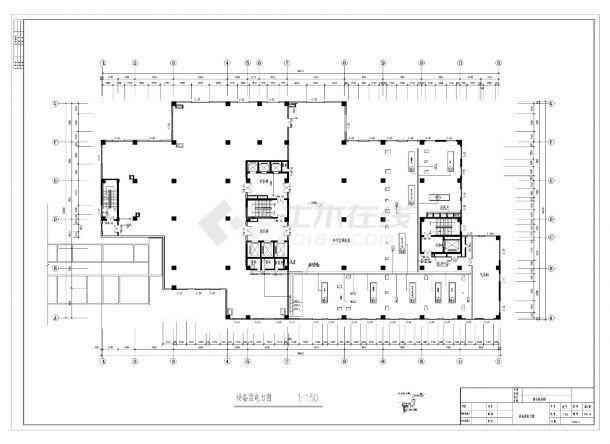 某医院综合病房楼电气照明施工CAD图纸-图二