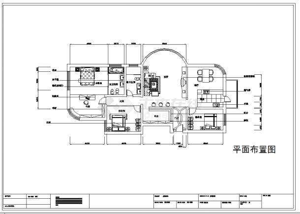 某地单层黑的经典风格建筑设计cad图纸附效果图-图二