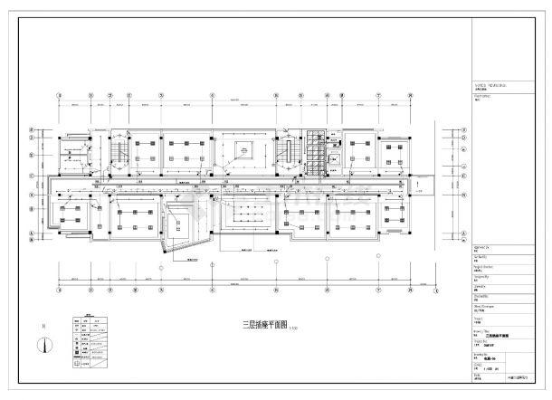 某五层办公楼照明设计电气施工CAD图纸-图一