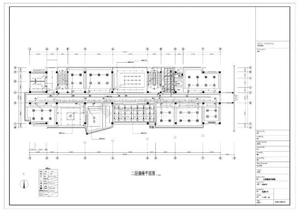 某五层办公楼照明设计电气施工CAD图纸-图二
