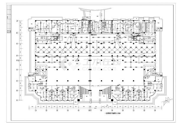某五星级酒店电气照明设计施工CAD图纸-图一