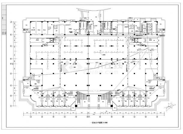 某五星级酒店电气照明设计施工CAD图纸-图二