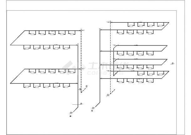 [暖通图纸] 厂房建筑散热器采暖系统设计施工图cad-图一
