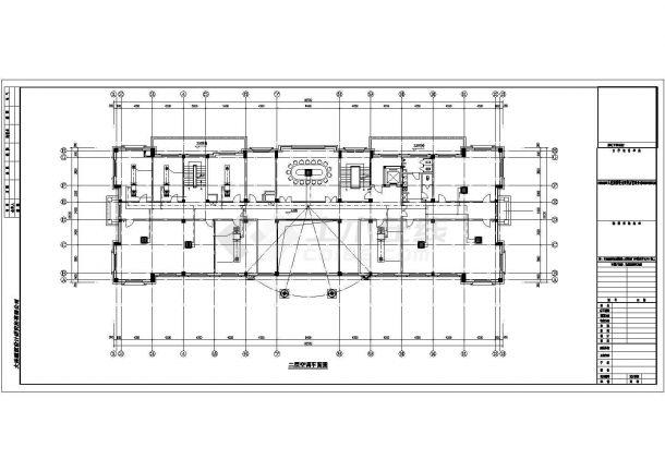 辽宁省某村民委员会仿古建筑全套采暖通风设计cad施工图(含空调设计,含设计说明)-图一