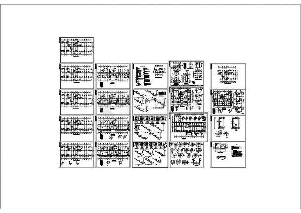 五套高层办公楼cad结构施工图纸-图一