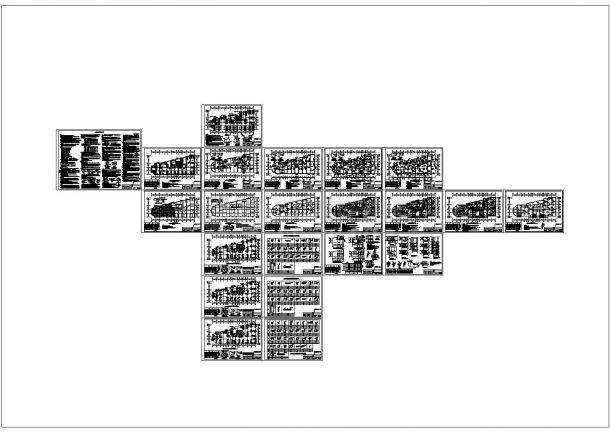 五套高层办公楼cad结构施工图纸-图二