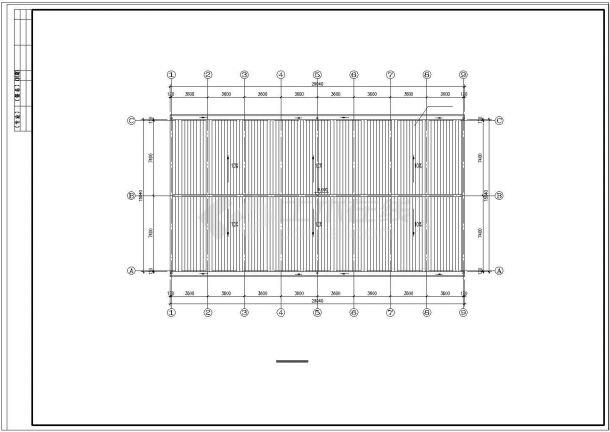 长29.04米 宽15.04米 单层小厂房建筑方案cad设计图-图一