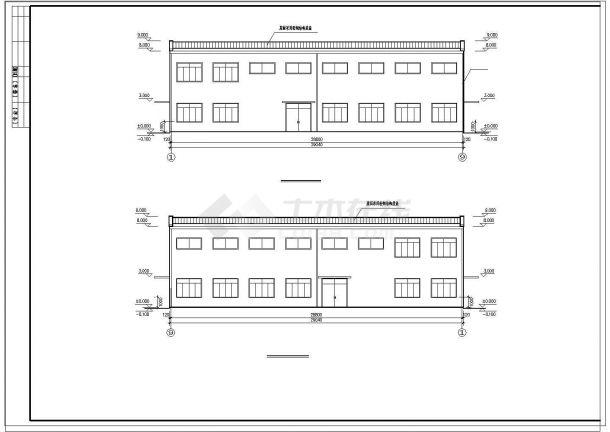 长29.04米 宽15.04米 单层小厂房建筑方案cad设计图-图二