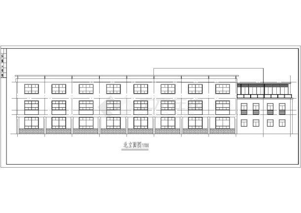 长80米 宽24米 3层厂房建筑方案cad设计图-图一