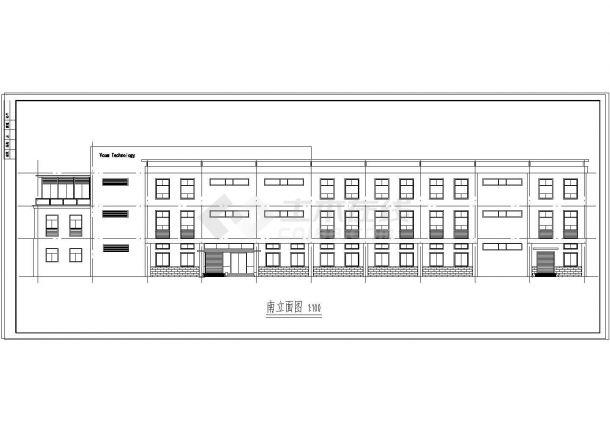 长80米 宽24米 3层厂房建筑方案cad设计图-图二