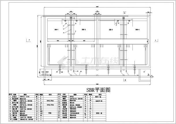 某大型啤酒污水处理厂工艺设计cad全套施工图纸-图二