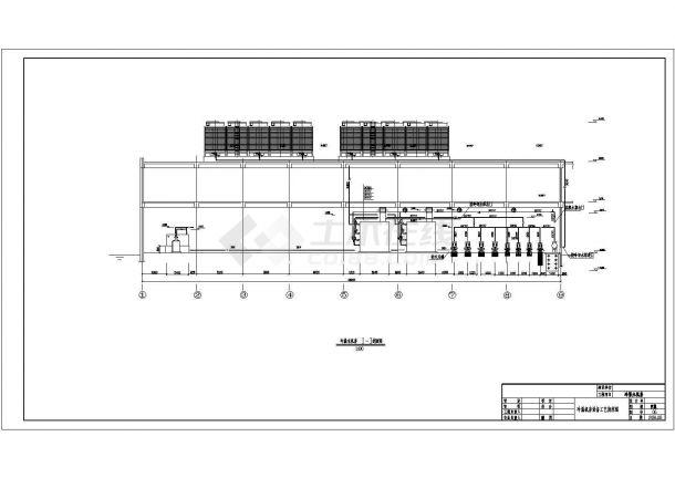 某地区某工程溴化锂机组机房设计参考CAD图-图二