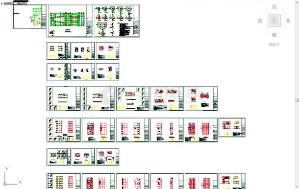 五套四合院cad常用结构施工立面图纸-图一