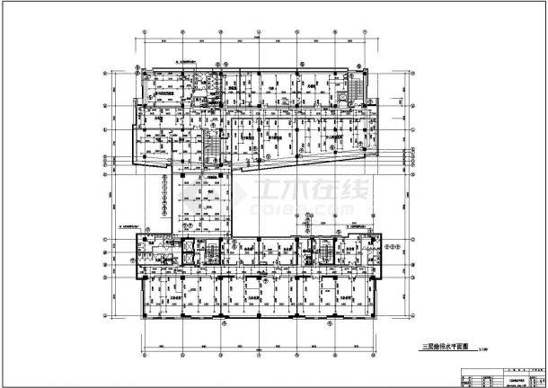 某地高层办公楼给排水设计cad施工图-图一
