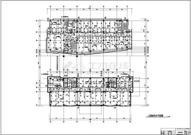某地高层办公楼给排水设计cad施工图-图二