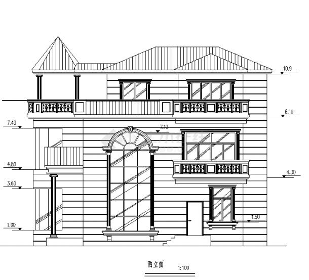 苏州2套经典别墅小区设计施工cad图纸-图一