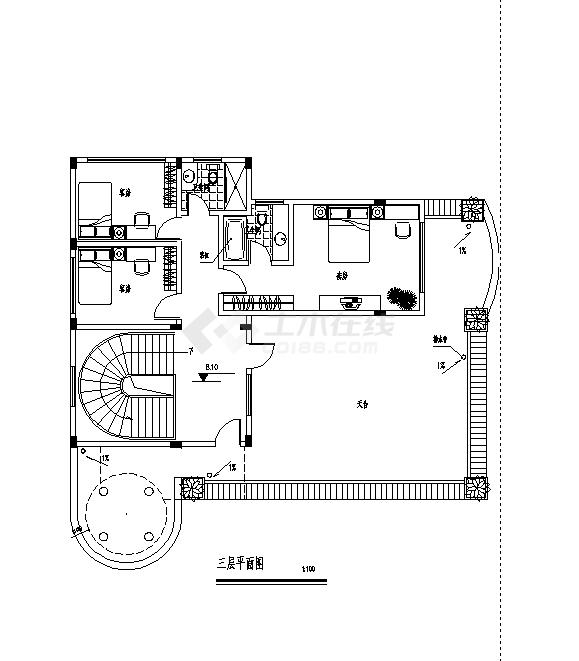 苏州2套经典别墅小区设计施工cad图纸-图二