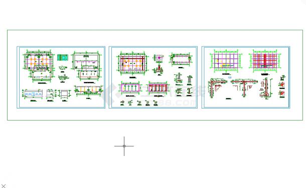 五套常用cad泵房结构施工图电气图纸-图一