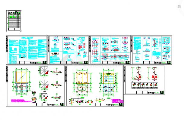 五套泵房常用cad设计施工图纸-图二